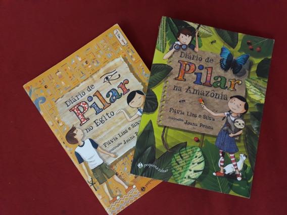 Kit 2 Livros: Diário De Pilar No Egito & Na Amazônia