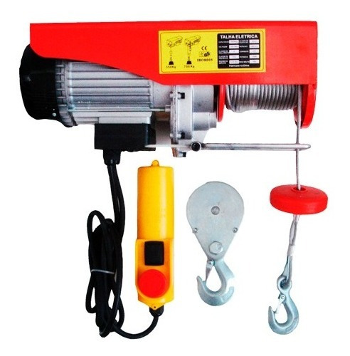 Talha Guincho Elétrica 1250w Capacidade 350/700 Kg