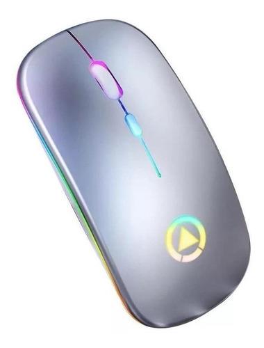 Imagen 1 de 3 de Mouse de juego inalámbrico recargable Yindiao  A2 gris metálico