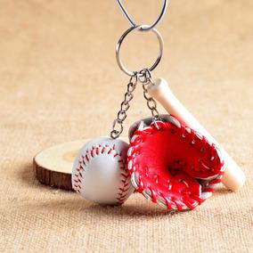 Chaveiro Beisebol L (luva, Bola E Taco) Na Cor Vermelha