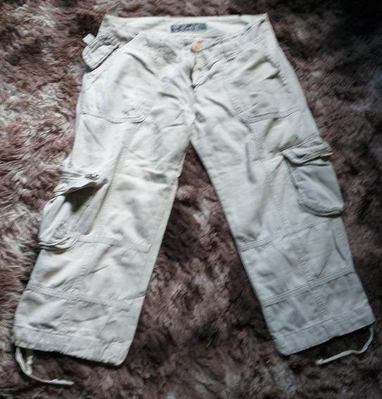 Pantalones Capri Cargo Mujer Impecables Safari T 38