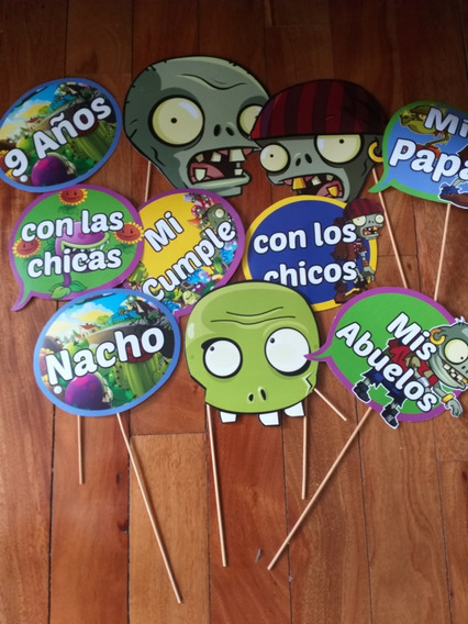 Carteles P/fotos Cumples Photoprops Simpsons, Zombie, Pokemo