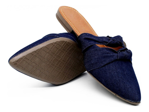 Sapatilha Feminina Mule Jeans Confortável Cod: 190
