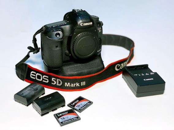 Câmera Canon Eos 5d Mkiii (corpo) + Grip + Bateria + Cartões
