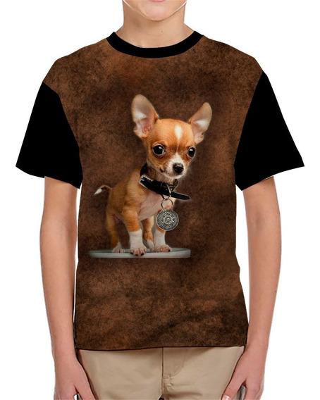 Playera De Niño Estampada De Un Perro Chihuahua