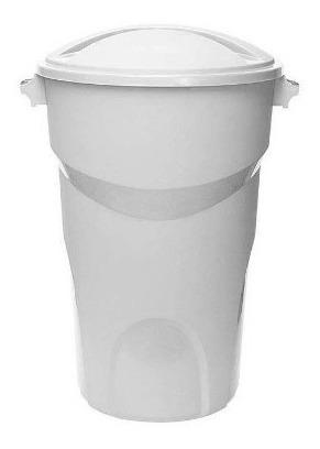 Balde Fechado 100 Litros Agua Cesto Lixo Lixeira Grande
