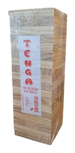Yenga Jenga Gigante Familiar 54 Piezas Madera Juego De Mesa