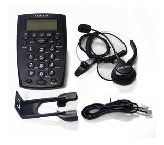 Call Center Telefono Ht500 Con Auriculares Diadema