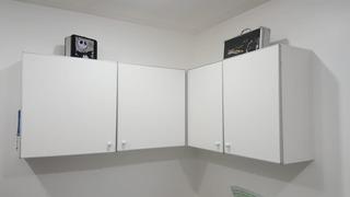 Alacena Esquinero - 4 Puertas -melamina Color Blanco
