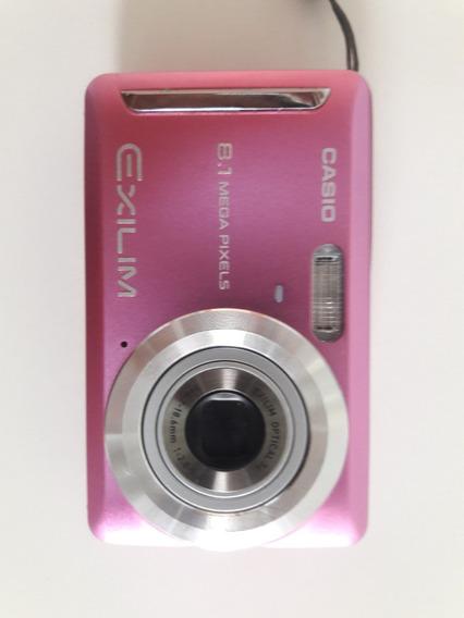 Camera Digital Casio Exilim Ex-z9 (rosa) + Cartão De 2 Gb