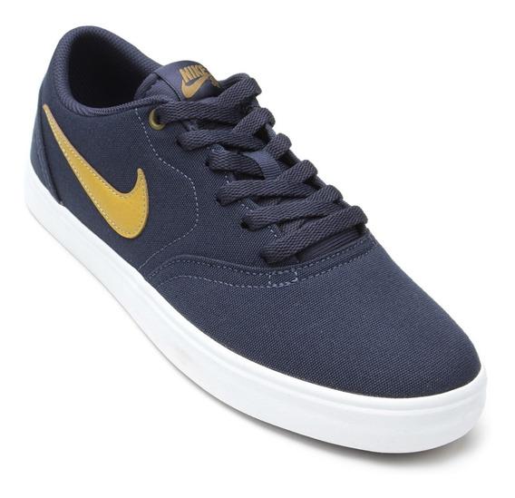 Tênis Nike Sb Check Solar Cnvs Original Nfe Masculino Azul