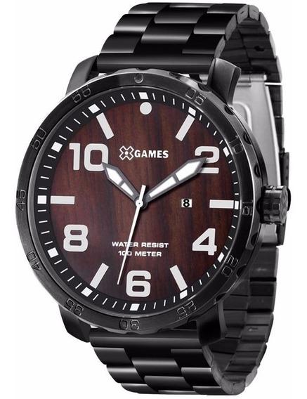 Relógio X-games Masculino Xmss1020 M2px Marrom Aço