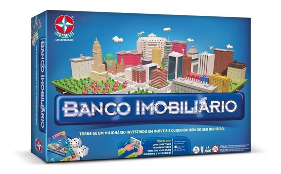 Jogo Banco Imobiliário Grande Clássico Com Aplicativo