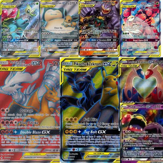 Lote 25 Cartas Pokemon Gx União De Aliados E Outros: 4 Kits