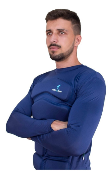 Camisa Flutuadora Mar&cia Uv50+ Manga Longa Até 120kg Adulto