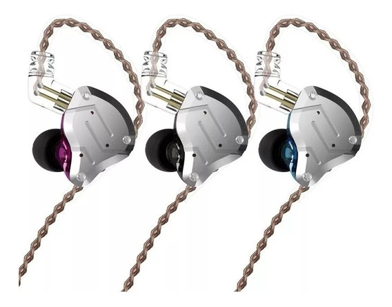 Fone Kz Zs10 Pro + Case Kz In Ear Monitor De Palco Sem Mic.