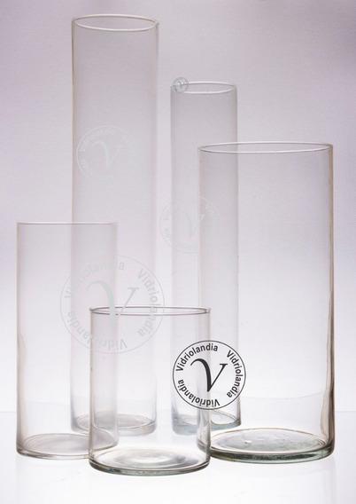 Florero Cilindro De 13x30 ,tubos De Vidrio Centro De Mesa