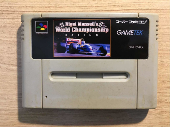 Nigel Mansell World Championship Super Nintendo Usado