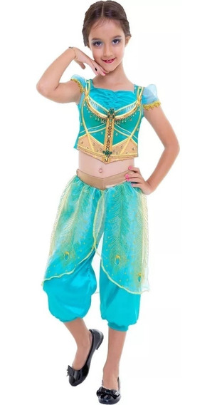 Fantasia Cropped Infantil Princesa Jasmine - Disney
