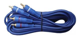 Cable 2 Rca A 2 Rca 5 Metros De Calidad 3.5 Mm Pomona