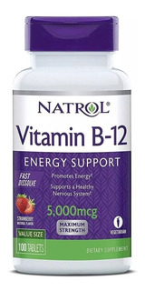 Vitamina B 12 Sublingual 5000mcg 100 Tbs Pronta Entrega
