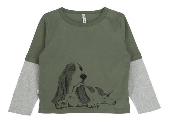 Remeras Niño Hush Puppies Kids Bw20-tsh/perro Olivine All