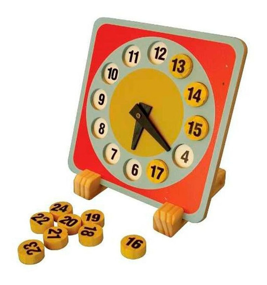 Brinquedos Educativos - Relógio Didático 240x240x6mm