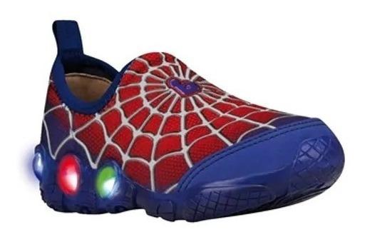 Zapatillas Del Hombre Araña Con Luces