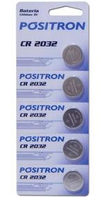 Bateria Cr2032 Pósitron Cartela C/ 5 Unidades Para Placa Mãe