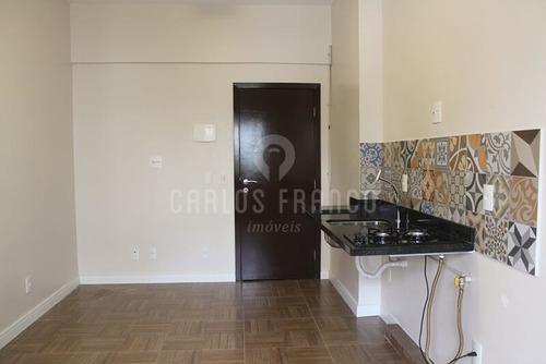 Imagem 1 de 8 de Studio Compacto De 24m² Com Quarto, Sala E Cozinha Em Único Ambiente, Banheiro Social Na Bela Vista - Cf63608