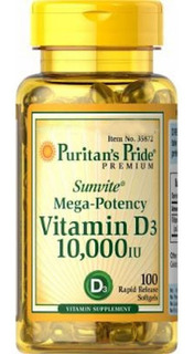 Vitamina D3 250mcg 10000iu Puritans Pride 100softgels