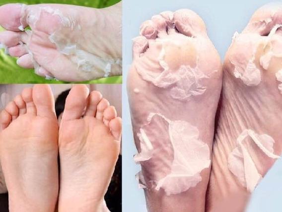 Promoção 2 Meias Esfoliante Cristal Foot Renova Pele Dos Pés