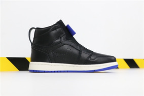 Tenis Nike Air Jordan 1 High Zip Black Ar4833-001