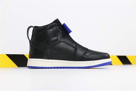 Tenis Nike Air Jordan 1 High Zip Black Ar4833-001