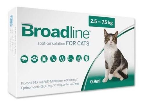 Broadline Cat Chico Antipulgas Garrapatas Gato 2.5-7.5kg