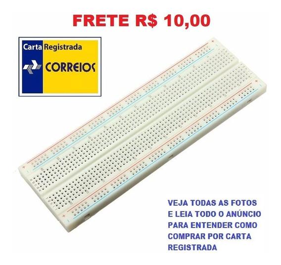 Protoboard Arduino Breadboard 830 Pontos Frete R$ 12,00
