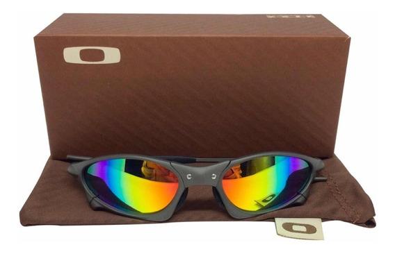 Oculos Oakley Penny X Metal Lentes Arco Iris + Lente Pink