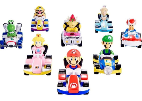 Hot Wheels - Mario Kart Personajes 1:64 Originales Mariokart