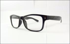 86d070422 Armação Oculos De Grau Quadrada Preta Brilho Unisex - A558