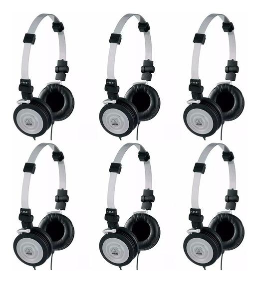 Kit 6 Fones De Ouvido Headphone Akg Profissional K414p