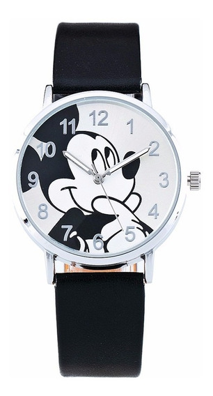 Relógio Mickey Disney Unisex Luxo Moda - Promoção