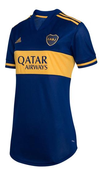 Camiseta adidas Boca Juniors Azul Amarillo Mujer