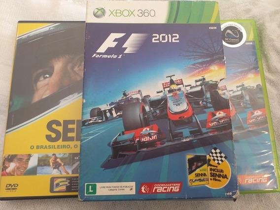 F12012 Jogo+filme Xbox 360 Mídia Física