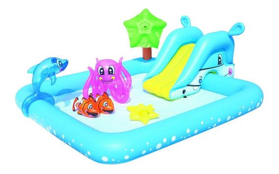 Pileta Pelotero Inflable Juego Tobogan Nemo + Accesorios