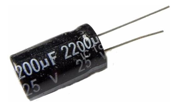 Pack X 5 2200uf 25v 13x20mm Condensador Electrolítico