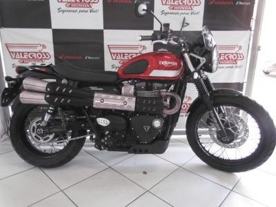 Motocicleta Triumph Street Scrambler 2017 Vermelha