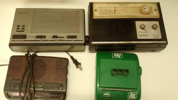 Lote 2 Rádios Relógio 2 Rádios No Estado Sem Garantia