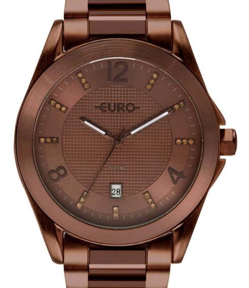 Relógio Euro Feminino Color Mix Shine Eu2315hp/4m Marrom