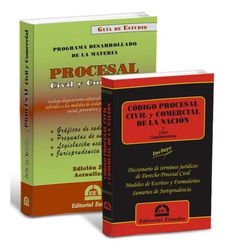 Imagen 1 de 5 de Promo 22 Guia De Procesal Civil + Cód Proc Civ Y Com Nacion