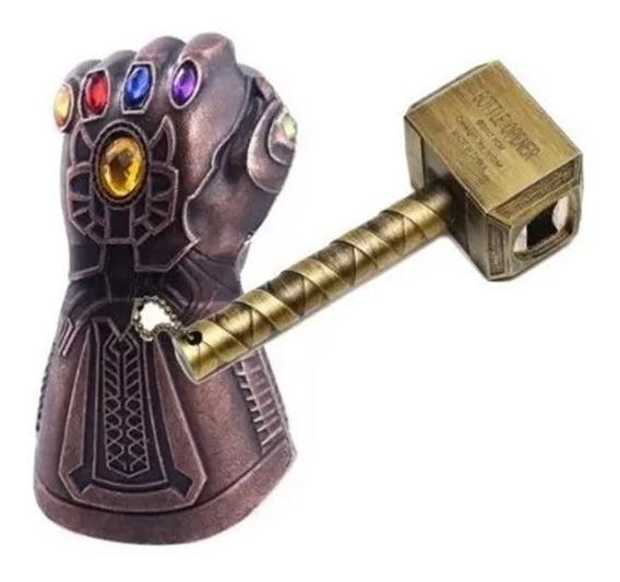 Destapador Thanos Guante 1 Y 1 Martillo Thor Avengers End